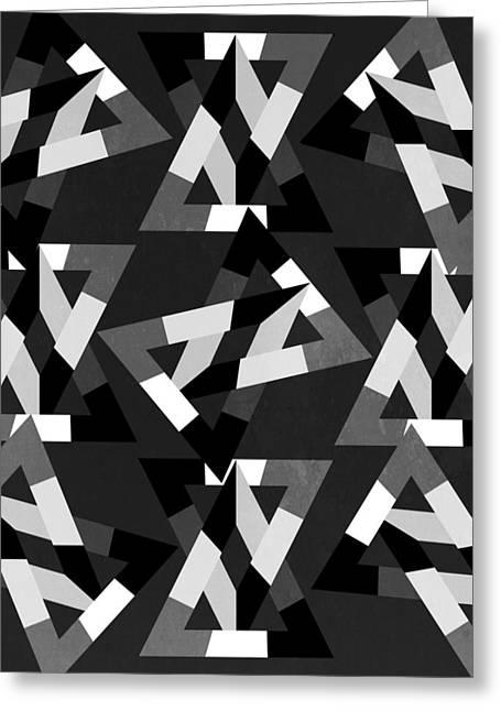 Geometric 12 Greeting Card by Mark Ashkenazi