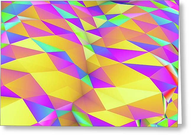 Geometric Abstract Polygonal Background Greeting Card by Pasieka