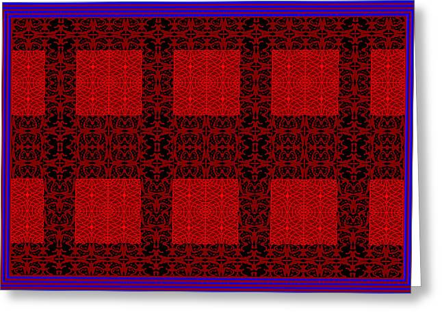 Geometric Abstract Stereo In Red Greeting Card