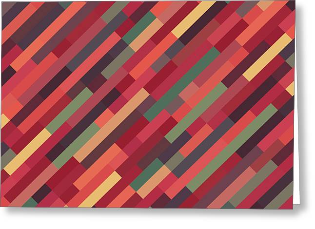 Geometric Block Greeting Card by Mike Taylor