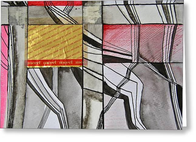 Geometric Fields Greeting Card by Shirley Devon