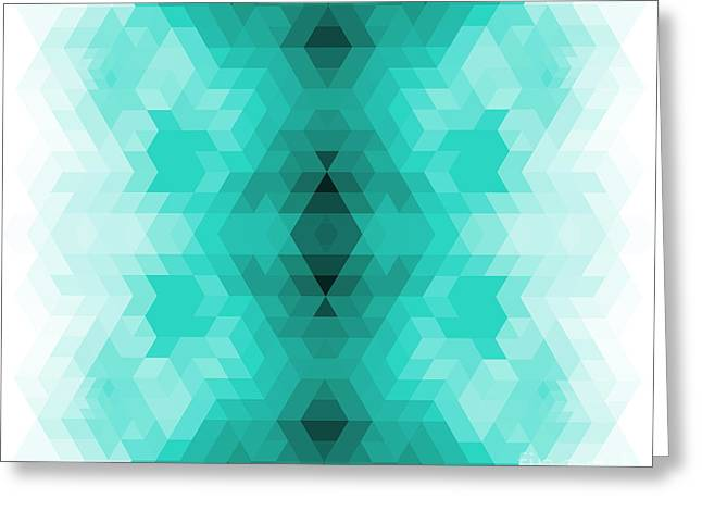 Geometric Hipster Retro Background Greeting Card