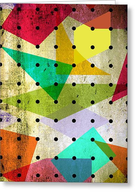 Geometric In Colors  Greeting Card by Mark Ashkenazi
