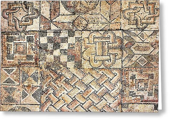 Geometric Mosaic Patterns Greeting Card