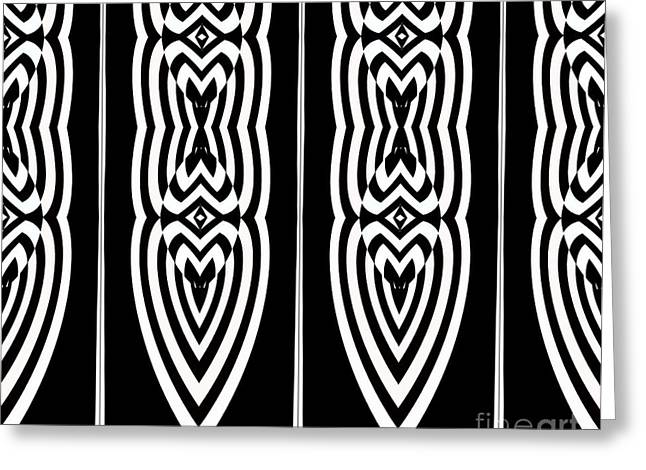 Pattern Geometric Black White Art No.337. Greeting Card by Drinka Mercep