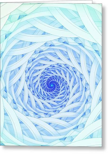 Geometric Spirals Greeting Card by David Parker