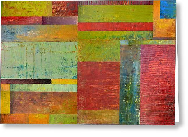 Geometric Study 1.0 Greeting Card by Michelle Calkins