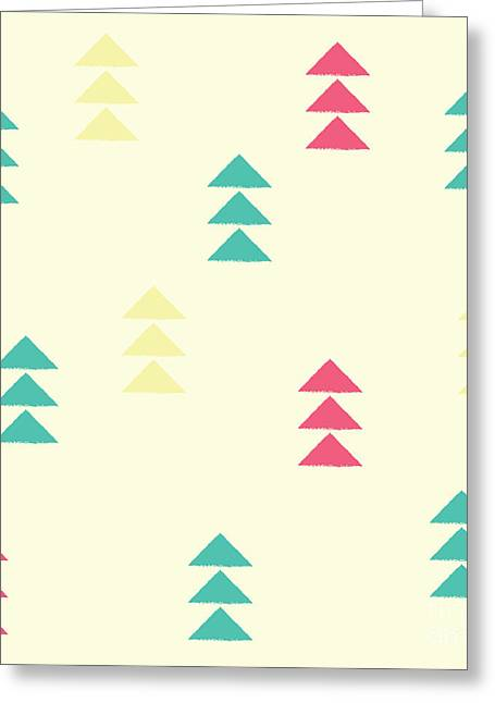 Geometric Triangles, Seamless Pattern Greeting Card