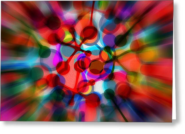 Geometrical Abstract Zoom By Kaye Menner Greeting Card