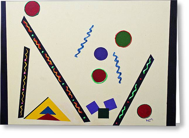 Geometrical Play Greeting Card by Karin Eisermann