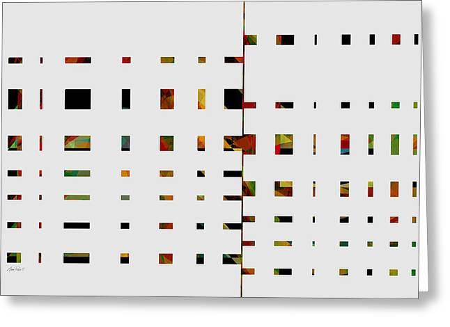 Geometrics -abstract -  Art Greeting Card by Ann Powell