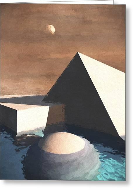 Geometry Pool Greeting Card by Richard Rizzo