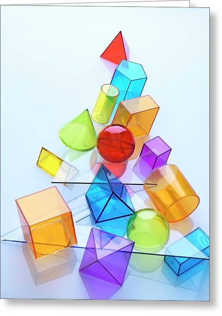 Geometry Greeting Card by Tek Image