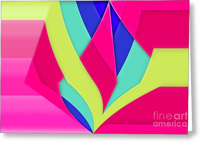 Geomox - 05bc02 Greeting Card by Variance Collections