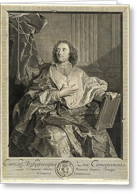 Georg Friedrich Schmidt After Hyacinthe Rigaud, Monseigneur Greeting Card by Quint Lox