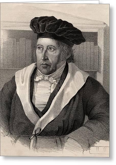 Georg Wilhelm Friedrich Hegel Greeting Card