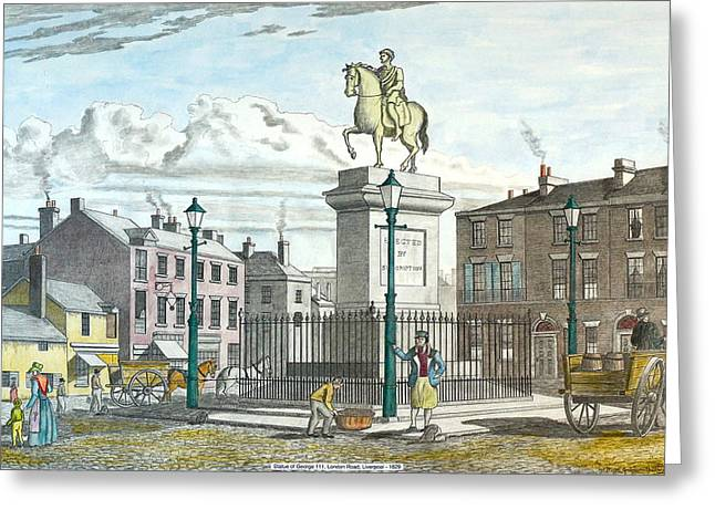 George 111 Statue Liverpool Greeting Card