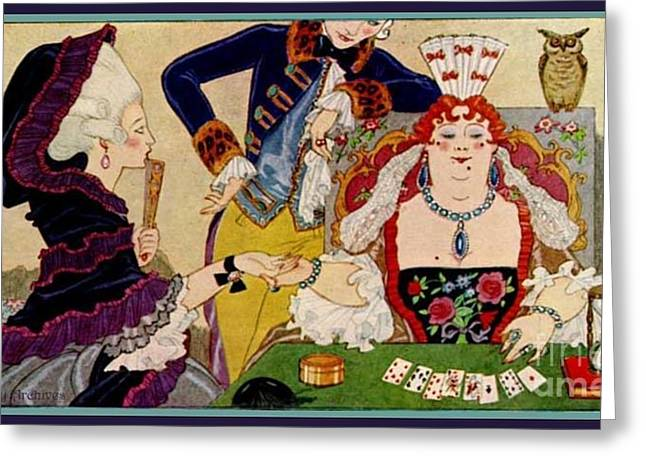 George Barbier. Palm Reader Greeting Card by Pierpont Bay Archives