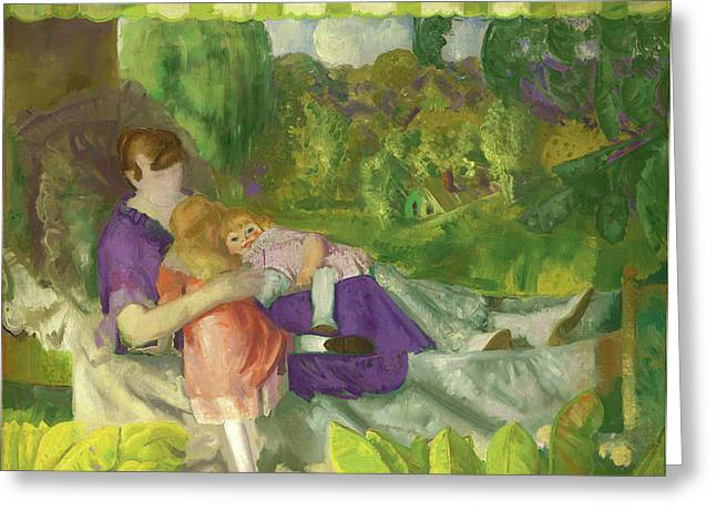 George Bellows, My Family, American, 1882 - 1925 Greeting Card