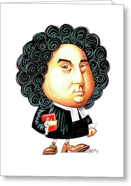 George Berkeley Greeting Card by Gary Brown