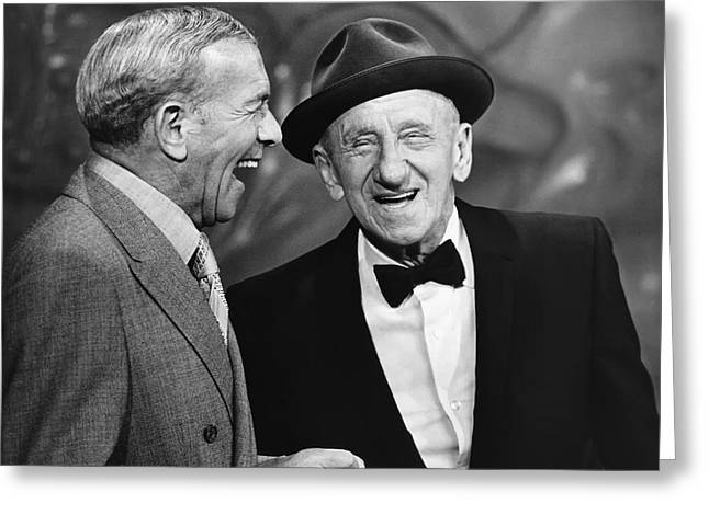 George Burns And Jimmy Durante Greeting Card