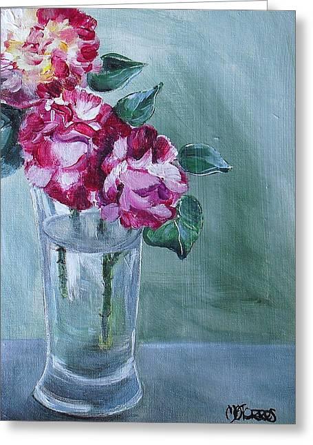 George Burns Roses Greeting Card by Melissa Torres