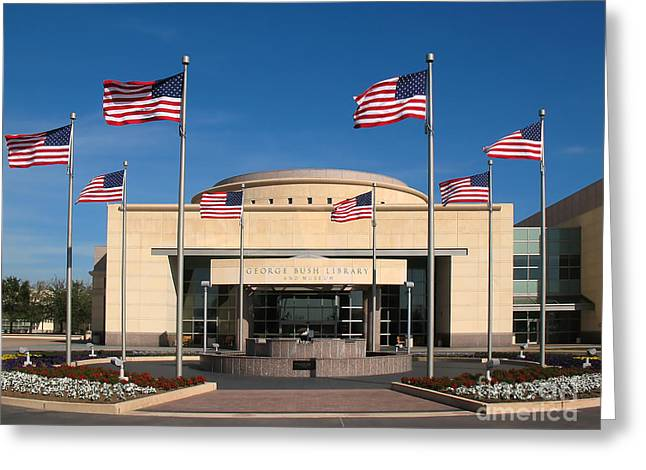 George Bush Presidential Library - College Station Texas Greeting Card by Connie Fox