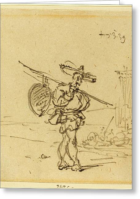George Chinnery, British 1774-1852, A Chinese Peasant Greeting Card