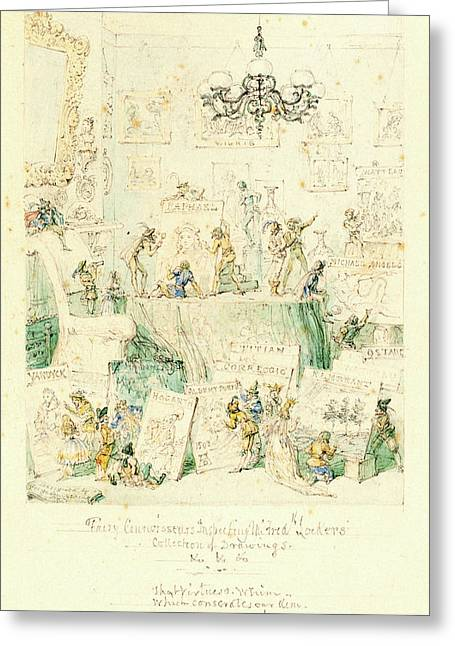 George Cruikshank, British 1792-1878 Greeting Card by Litz Collection