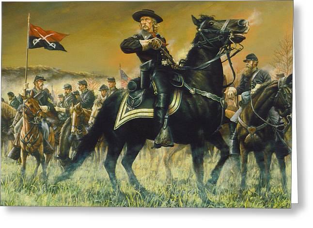 George Custer Usa Greeting Card by Dan Nance