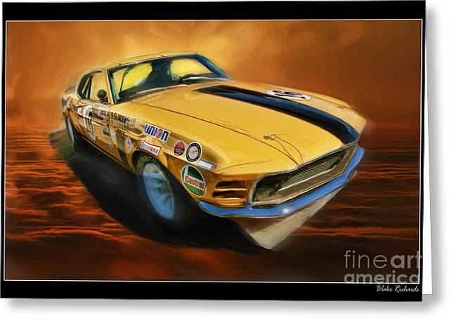 George Follmer 1970 Boss 302 Ford Mustang Greeting Card