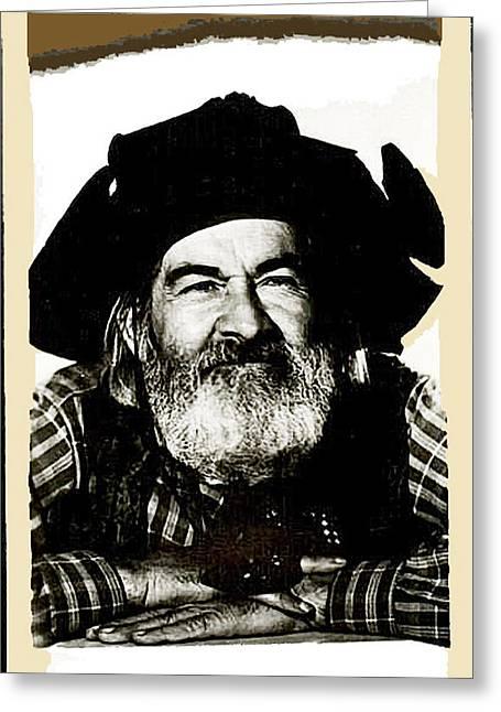 George Hayes Portrait #1 Card Greeting Card by David Lee Guss