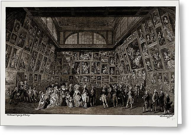 George IIi. And The Royal Family At The Private View Greeting Card by Litz Collection