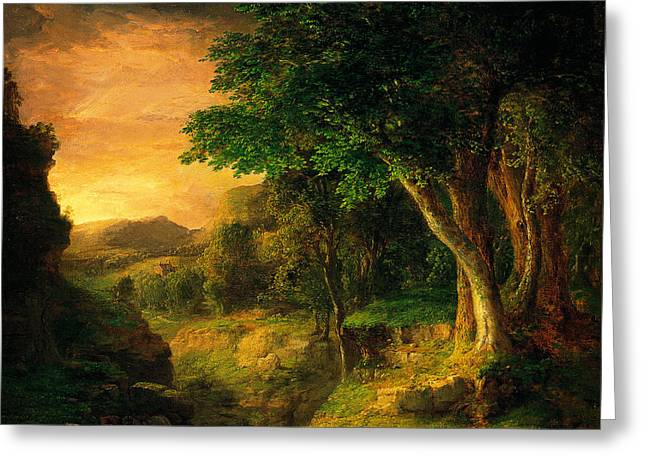 George Inness In The Berkshires Greeting Card by MotionAge Designs