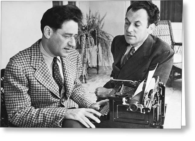 George Kaufman And Moss Hart Greeting Card by Underwood Archives
