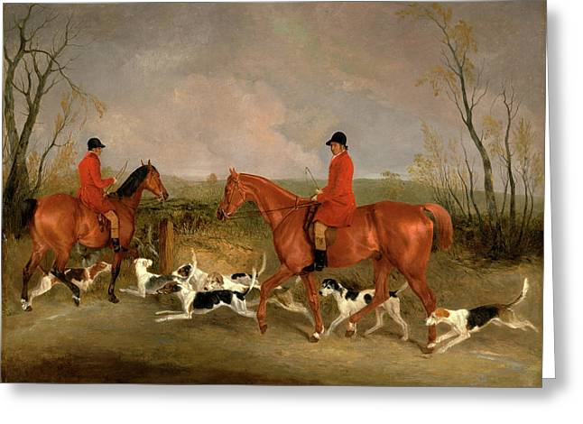 George Mountford, Huntsman To The Quorn Greeting Card by Litz Collection
