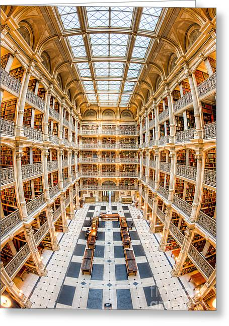 George Peabody Library IIi Greeting Card by Clarence Holmes