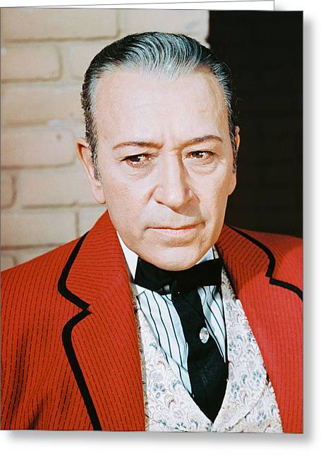 George Raft Greeting Card by Silver Screen