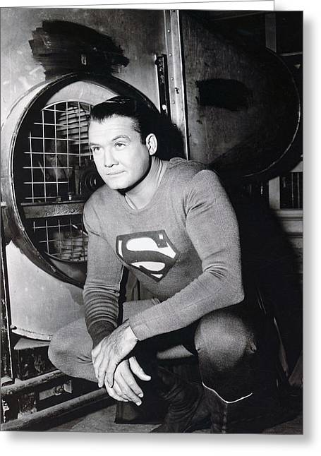 George Reeves Greeting Card by Silver Screen