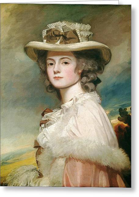 George Romney, Mrs Greeting Card by Quint Lox