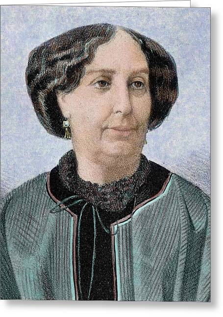 George Sand, Pseudonym Of Aurore Dupin Greeting Card by Prisma Archivo