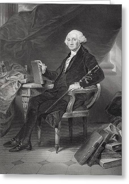 George Washington 1732-1799. Commander Greeting Card by Ken Welsh