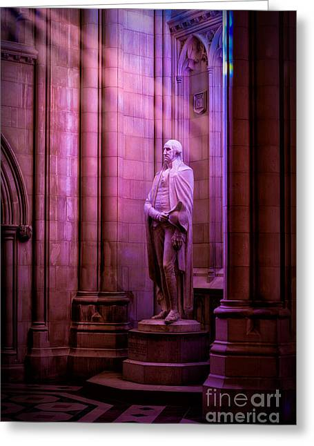 George Washington At The National Cathedral Greeting Card