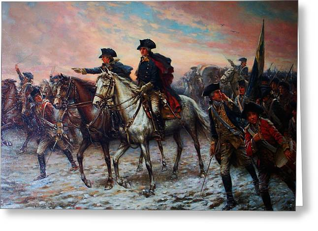 George Washington At Valley Forge Greeting Card by Celestial Images