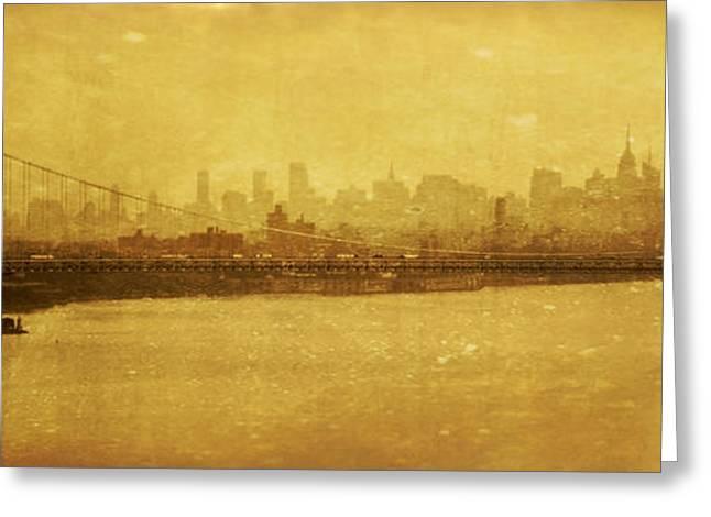 Greeting Card featuring the photograph George Washington Bridge by Debra Fedchin
