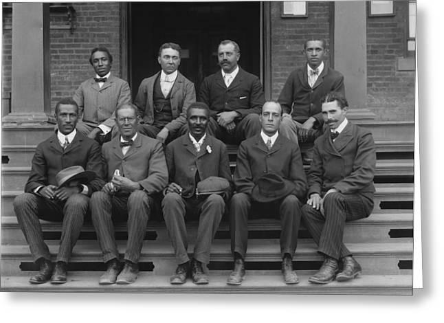 George Washington Carver And Staff 1902 Greeting Card