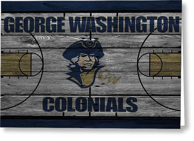 George Washington Colonials Greeting Card by Joe Hamilton