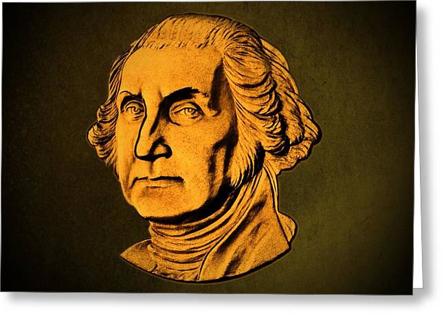 George Washington Greeting Card by David Dehner