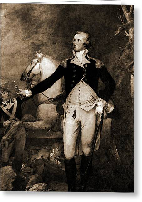 George Washington, Full-length Portrait By Horse Greeting Card by Litz Collection
