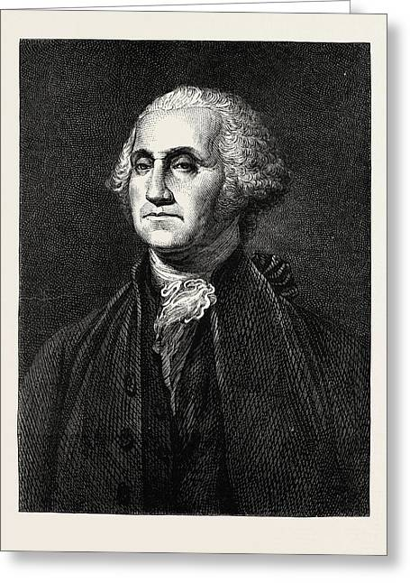George Washington, He Was One Of The Founding Fathers Greeting Card by American School